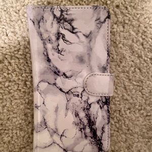 iPhone 8+ wallet phone case - marble